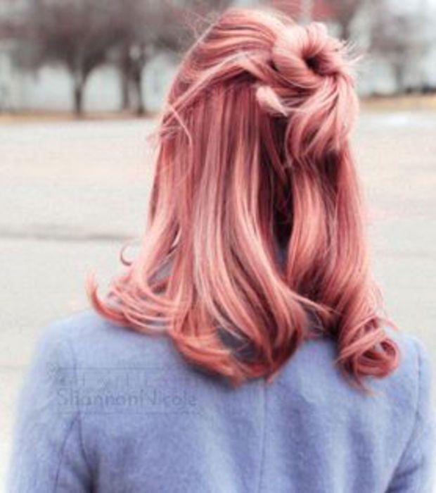 "La coloration ""peach hair"""
