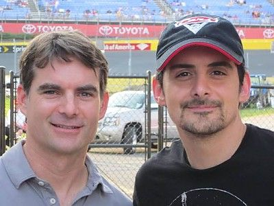 Jeff Gordon (L) & Brad Paisley (country music star). Two of my