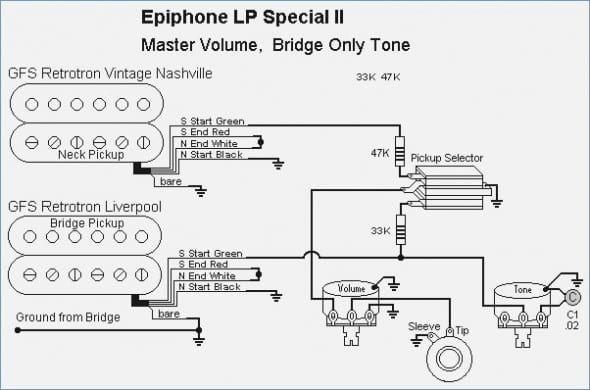 Epiphone Special Ii Wiring Diagram Gitaarakkoorden