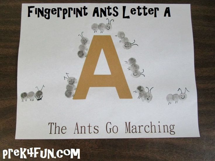 letter a projects for preschool the ants go marching letter a fingerprint ants 12931
