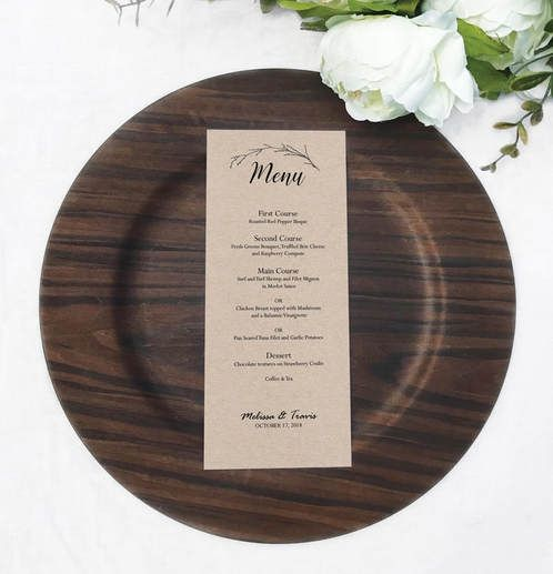 Free menu template, printable menu, rustic menu, wedding menu, editable template