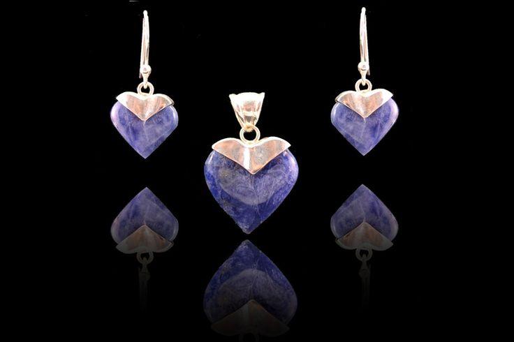 Prachtige Set van zilver 950 met lapis lazuli steen. Gratis verzending binnen Nederland! www.dczilverjuwelier.nl