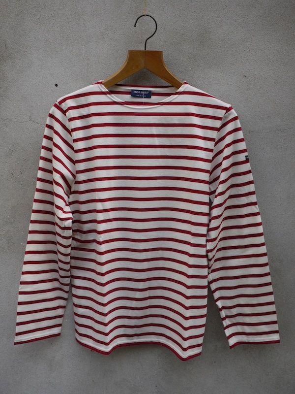Minquiers Breton Shirt (Cream & Persian Red)