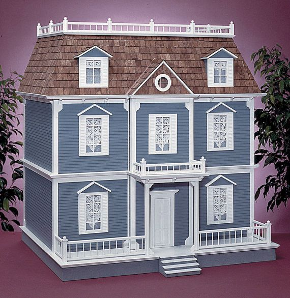 Wooden Dollhouse Kit La Maison Scale One by miniaturerosegarden, $379.00