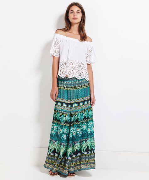 BEACHWEAR - Vogue Beach - Floral skirt - OYSHO.com