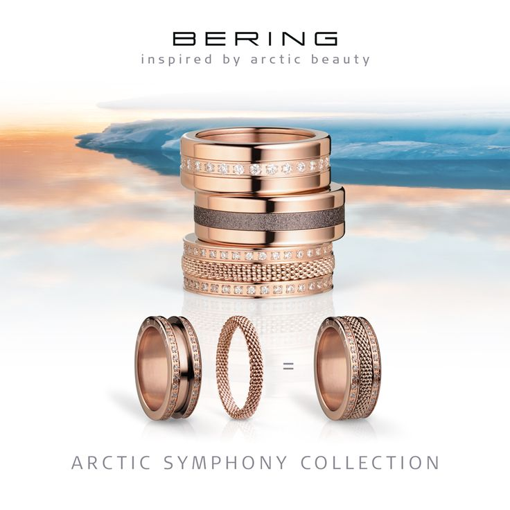 Rings for women; Twist & Change; Arctic Symphony Collection; BERING