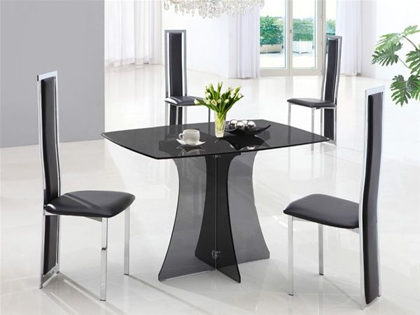 1000 ideas about glass dining table on pinterest modern. Black Bedroom Furniture Sets. Home Design Ideas