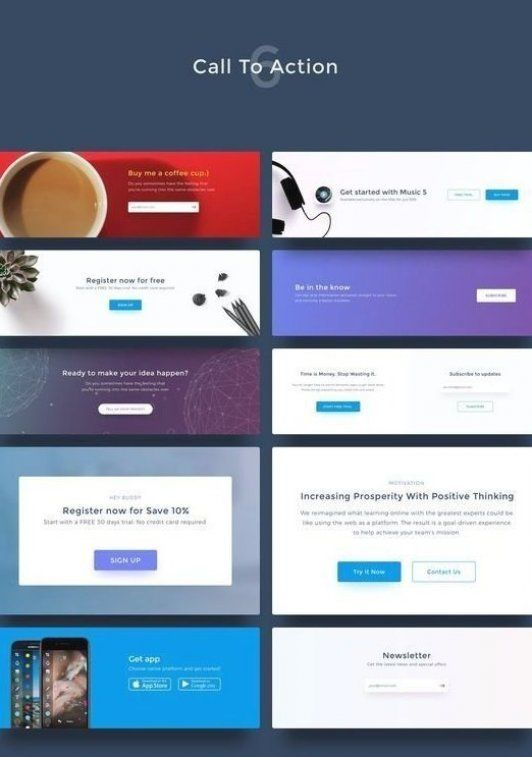 Call To Action Sectionweb Template Web Design Layout Website Template Design P In 2020 Responsive Web Design Inspiration Website Template Design Landing Page Design