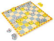 Dama Topi e Gatti in Legno, Gioco/Giocattolo per Bambini, Legler 26 x 26 cm