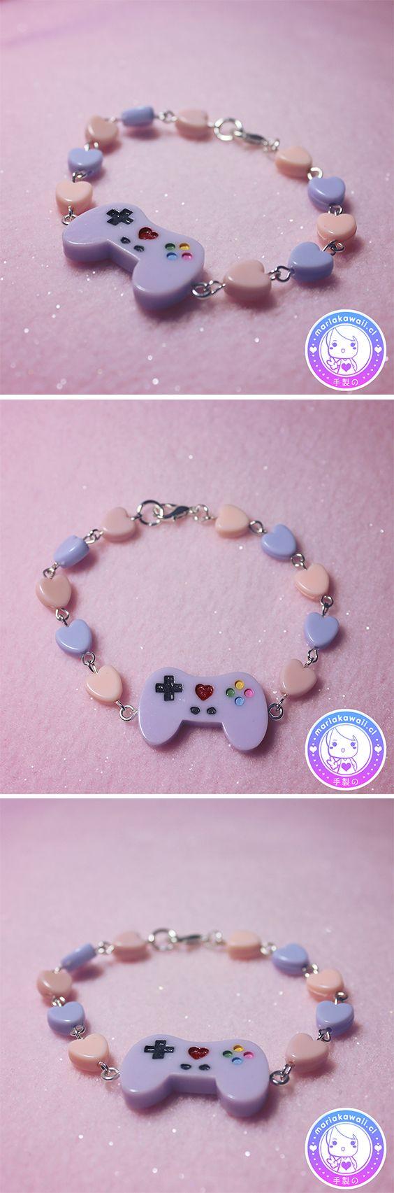 María Kawaii Store ♥ Gamer Joystick Bracelet Lila
