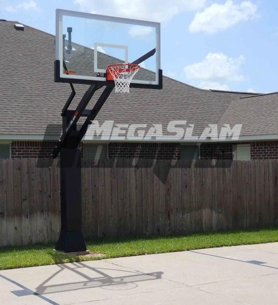 Mega Slam XL installed on a driveway court. Professional ...