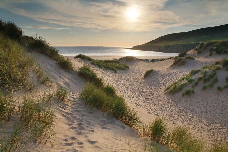 Looking out from Braunton Burrows across Saunton Sands