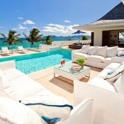 30 Poolside Terrace Ideas to Get Your Home Ready for the Summer. Via Anguilla Villas.