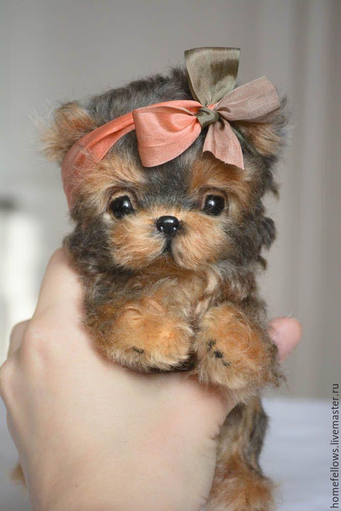 Handmade dog toy / Щенок Тедди Мисс Мария. Породы йоркширский терьер - комбинированный, щенок, щеночек, щенки