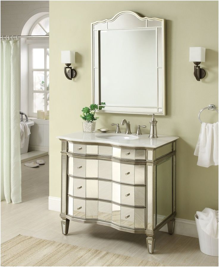 Mirrored Bathroom Vanity With Sink 30 Mirrored W Silver Trim From Bathroom  Vanity With Mirror