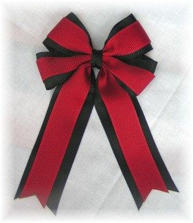 Cheerleading, Drill Team or Dance Team Hair Bows 4 loop hair bow available in 84 colors and U Pic the clip