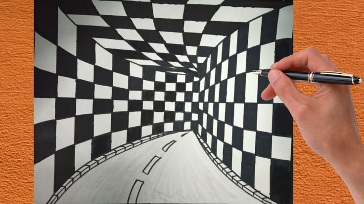 How To Draw 3d Tunnel Drawing Optical Illusion Step By Step 3d