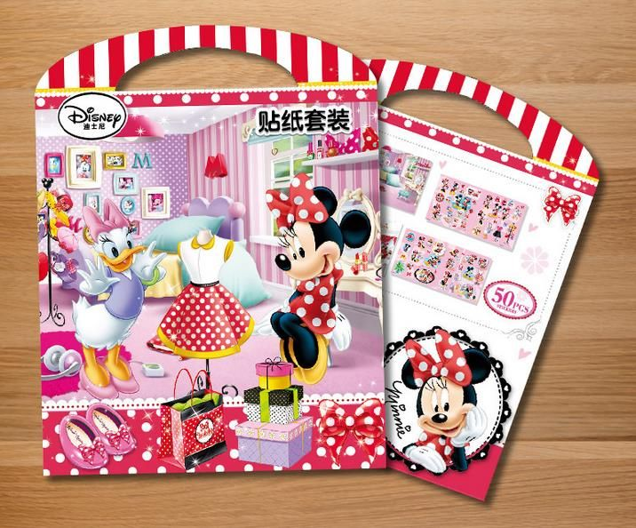 HOT  Mickey Mouse Minnie My Little Pony Book sticker diy for kids rooms decorative sticker adesivo de parede removable #Affiliate