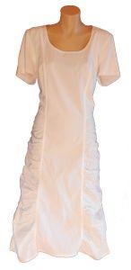 The Clothing Company Dress - Gathered short sleeve dress.  White.   (CA159D53)