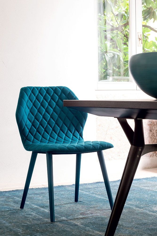 fabric restaurant chair ava 1690 ava collection by bross italia design michael schmidt - Blue Restaurant Ideas