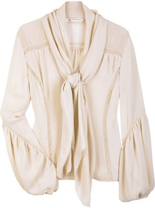 ShopStyle: Diane von Furstenberg Chale pussy-bow blouse