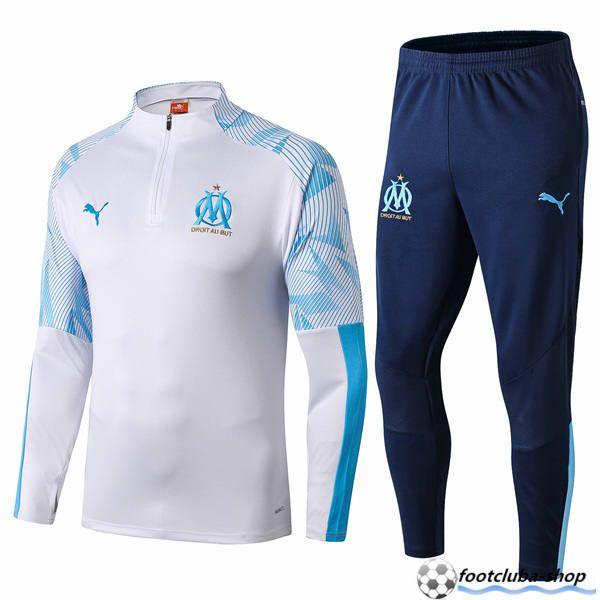 vente Survetement de Foot Marseille OM BlancBleu 20192020