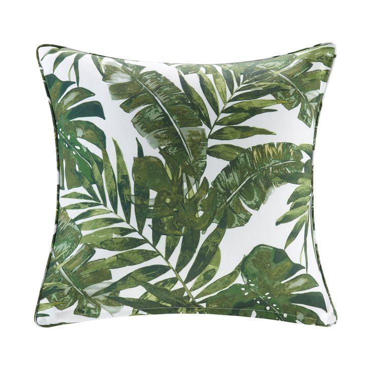 Madison Park Navio Printed Palm 3M Scotchgard Indoor/Outdoor Square Throw Pillow