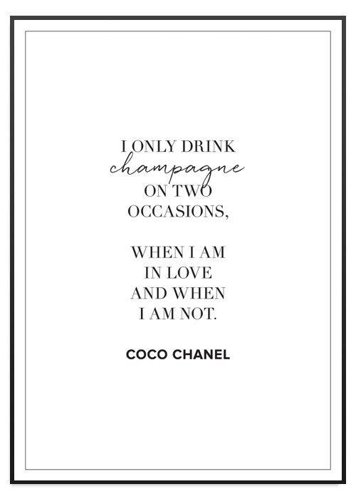 Poster Store Chanel Champagne tavla