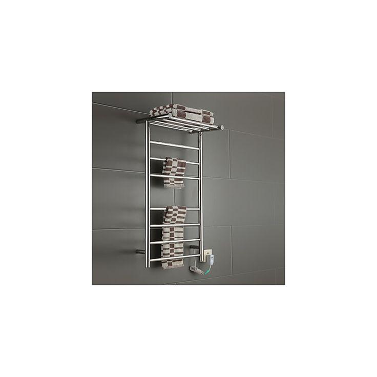 壁掛けタオルウォーマー タオルハンガー+簡易乾燥 ステンレス鋼 タオルラック付 60W
