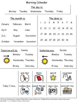 Breezy Special Ed: Monthly Calendar Worksheets   August Freebies!