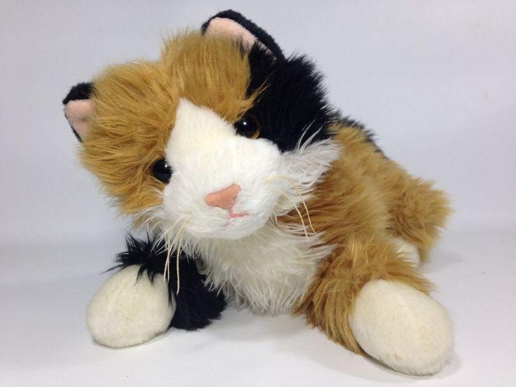 Ty Classic Calico Cat CARLEY Plush Kitten Beanie Buddy Stuffed Animal 2000  #Ty