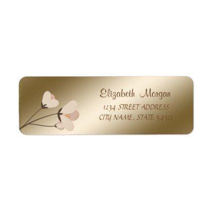 Elegant Chic Romantic Flower Address Label