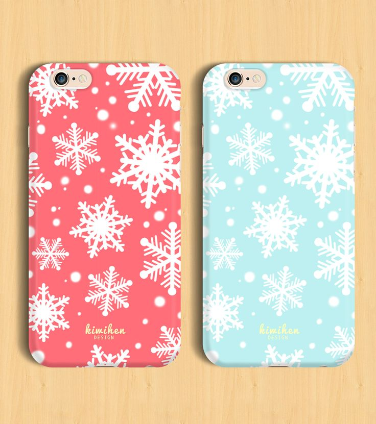 Christmas Winter Snowflakes iPhone Case