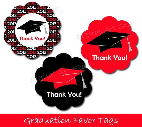 Graduation Party Favor Tags