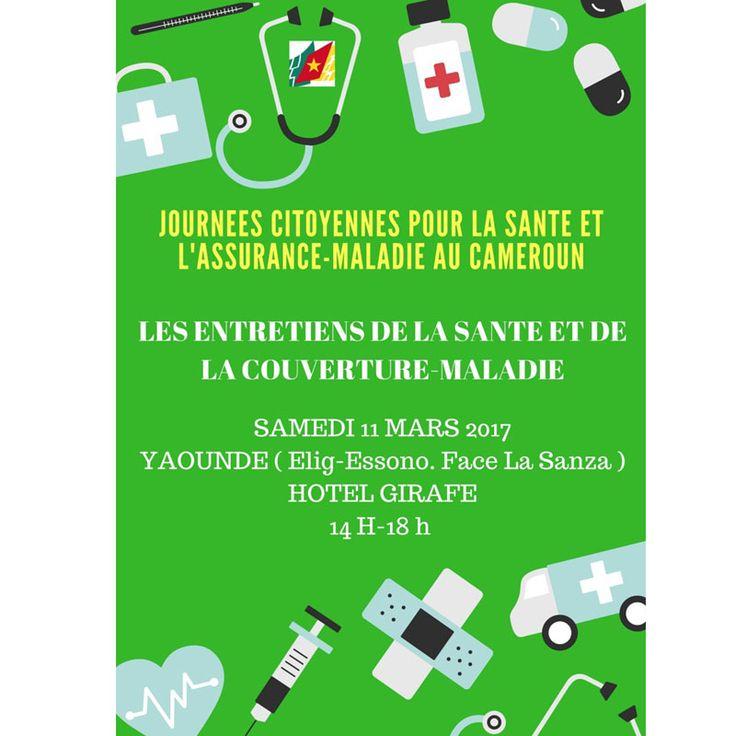 Les Premières Journées Citoyennes pour la Santé et l?Assurance-Maladie au Cameroun, seront organisées, l?initiative du Collectif Plus Jamais Ca, Association d&e