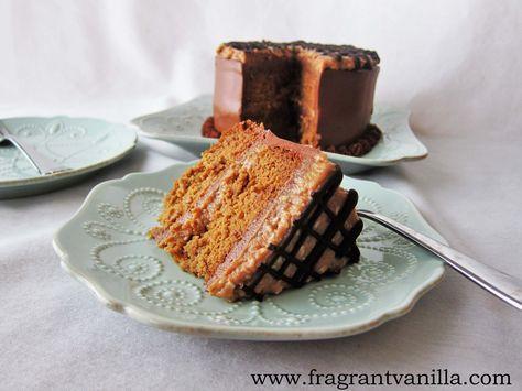Vegan Samoa Layer Cake 23rd Birthday Cake! #YUMMMMMMMMMMMM Serves 8-12!