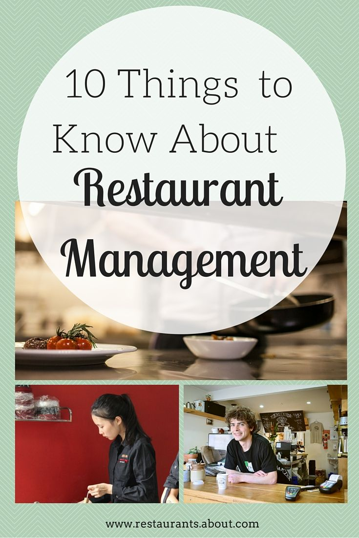 How to manage a new restaurant 803