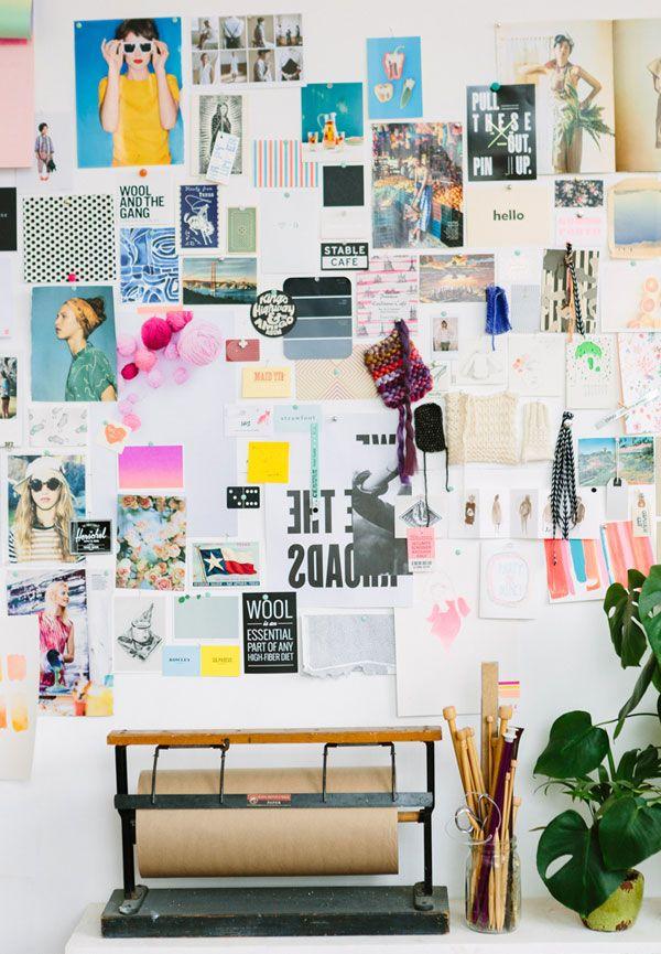 Mood board at Emma Dime Studio, via Apartment 34 | Block Print Social