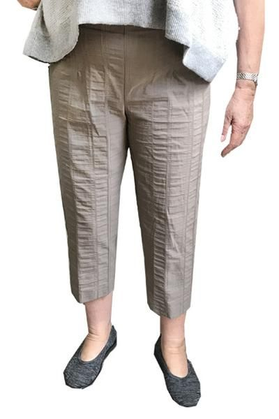 KjBrand Cropped Wash 'n Go Trousers in Taupe/Olive #womensfashion #womenstrousers #trousers #clothing #ladiesfashion #easycare #noiron