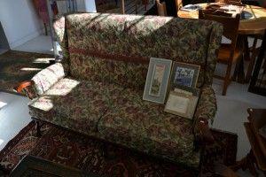 Basement 7 - Provenance Auction House: An Oak Framed Three Piece Lounge Suite.
