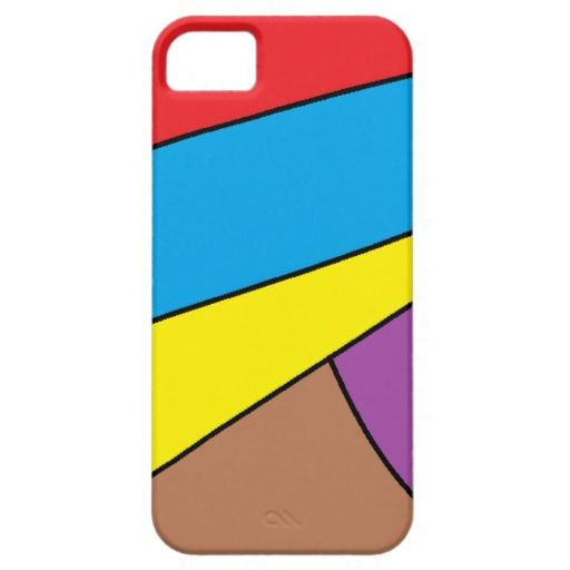 abstract multicolored pattern case for iPhone 5/5S