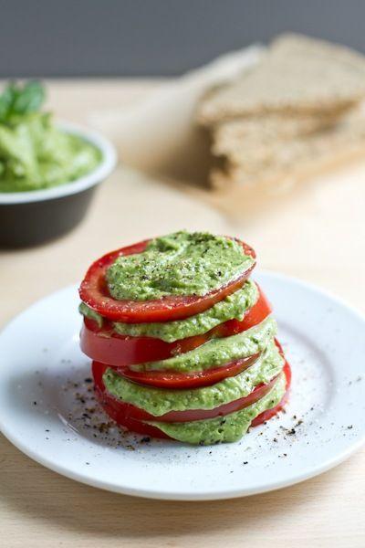 Creamy Avocado Basil Pesto