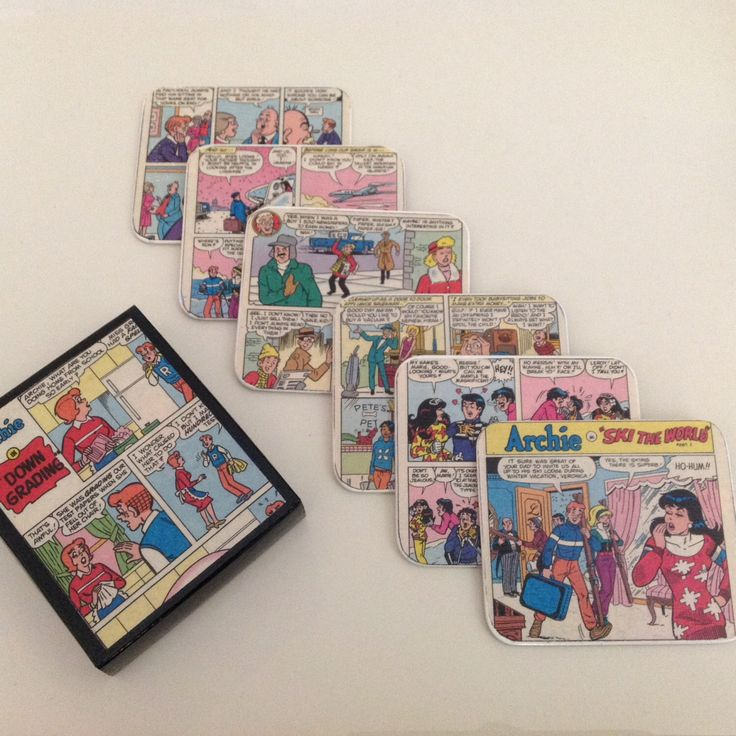 The Archies Vinatge Comic Coasters by ComicKamikaze on Etsy https://www.etsy.com/listing/500232439/the-archies-vinatge-comic-coasters