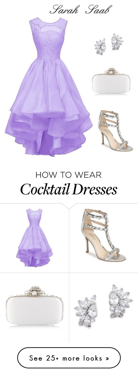 """Elegant in the wedding✨"" by sarasaab on Polyvore featuring Nine West, Oscar de la Renta and Kenneth Jay Lane"