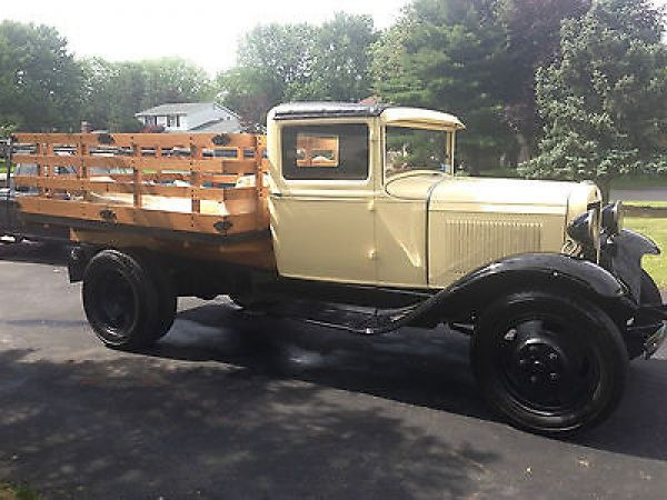 Ford : Model A 2 1/2 TON DUAL REAR WHEEL STAKE BED 1930 MODEL AA FORD STAKE TRUCK FLAT BED - http://www.legendaryfind.com/carsforsale/ford-model-a-2-12-ton-dual-rear-wheel-stake-bed-1930-model-aa-ford-stake-truck-flat-bed-2/