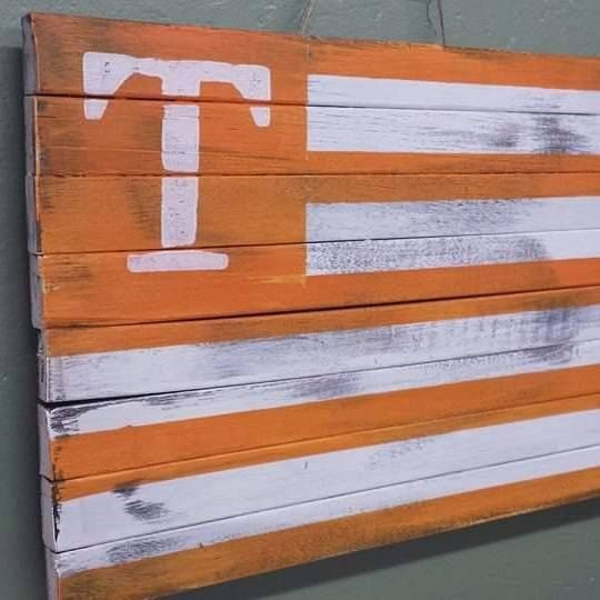 University of Tennessee CUSTOM MADE Tennessee Vols Power T Flag by gdaykreations…