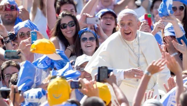 El Papa Francisco hoy en la Plaza del Vaticano