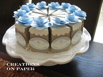 baby shower: Showers, Babies, Baby Shower Cakes, Cake Slices, Baby Boy Shower, Paper, Baby Registry, Cake Boxes, Creations