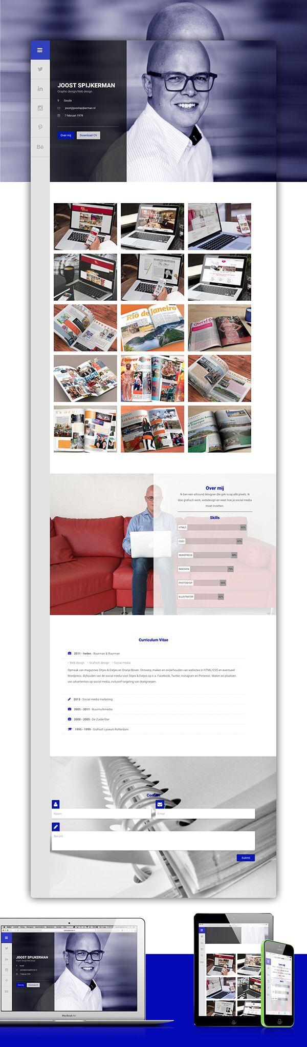 Online CV #portfolio #cv #webdesign
