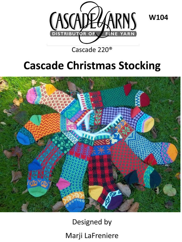 Christmas Stockings in Cascade 220 - W104 | Knitting ...